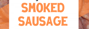 This easy smoked sausage bake only uses 5 ingredients to make a delicious meal! #smokedsausagerecipe #sausagerecipes #5ingredients #dinnerrecipes