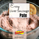 This easy and delicious liver sausage pate is a quick appetizer made in the food processor. #liversausage #pate #liversausageappetizer #appetizerrecipe