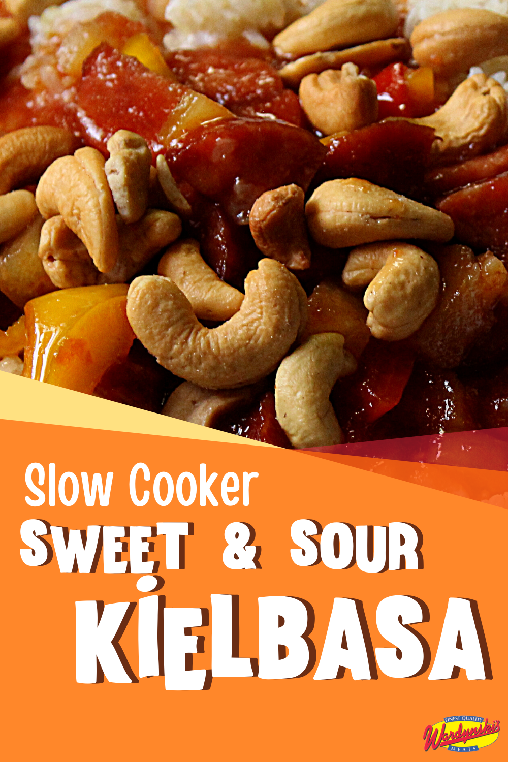 Sweet & Sour Kielbasa is a delicious and easy slow cooker recipe that combines pineapples, Polish sausage, and delicious sauce.