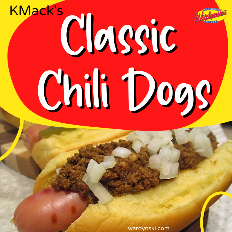Grill up your favorite Wardyski hot dogs to make this classic chili dog recipe!