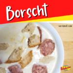 This delicious Borscht recipe uses Wardynski Polish sausage to make a yummy dinner